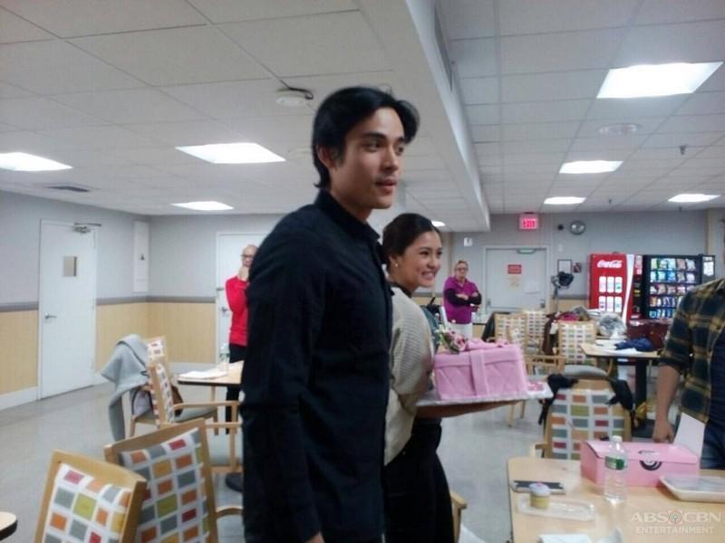 Xian surprises Kim on her birthday
