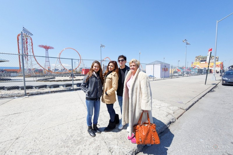 Behind-the-scenes: Tin, Macoy, CJ and Caitlyn in Coney Island