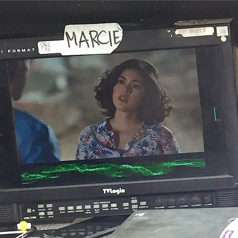 On the set of The Story Of Us: Shaina Magdayao as bubbly Lucia